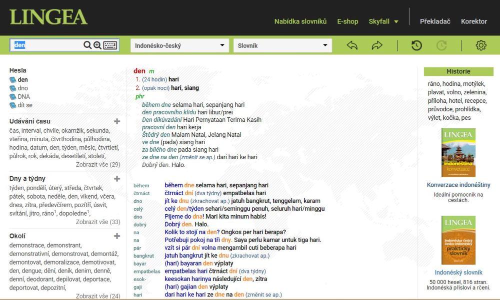 indonéský slovník