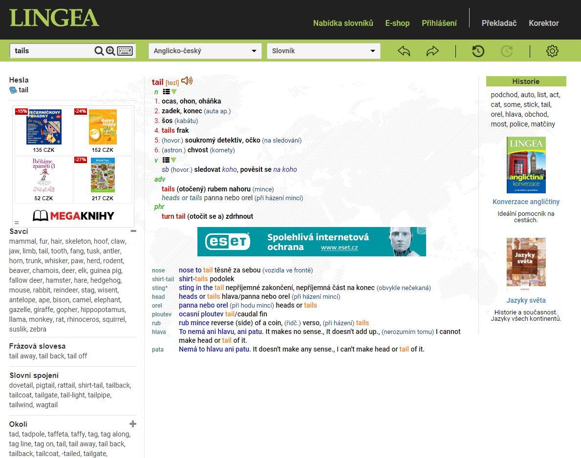 online slovníky Lingea